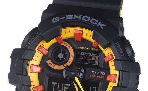 卡西歐石英男士手表:大表盤設計,3G防護抗震防水