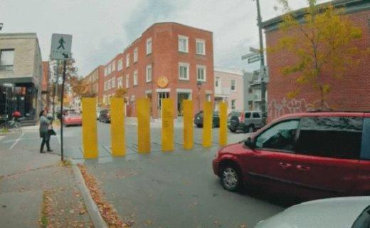 """加拿大最""""硬核""""斑馬線,時刻提醒司機,開車需禮讓行人!"""