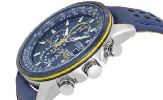 西鐵城光動能男士手表:人氣皮帶版藍天使,高顏值,5局電波