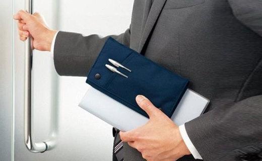 KOKUYO手賬筆袋:對角線綁帶攜帶方便,前置插袋拿取方便