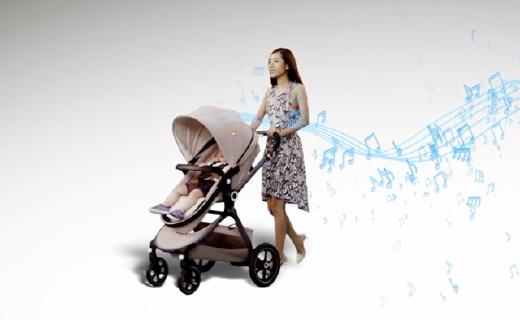 好孩子e智嬰兒車,讓寶寶置身于音樂廳