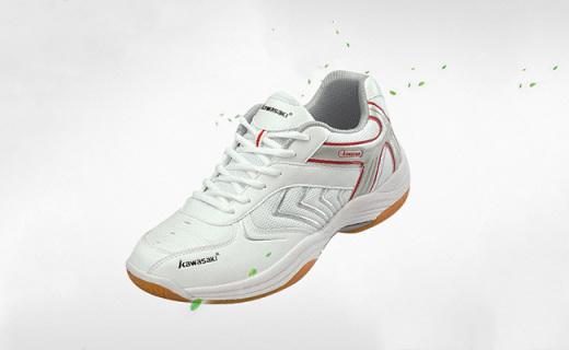 川崎K-003羽毛球鞋:流線設計透氣不捂腳,橡膠大底防滑耐磨