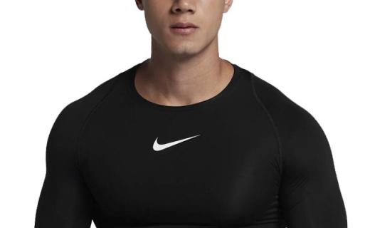 耐克運動緊身衣:纖維面料親膚透氣,立體剪裁彈力貼身