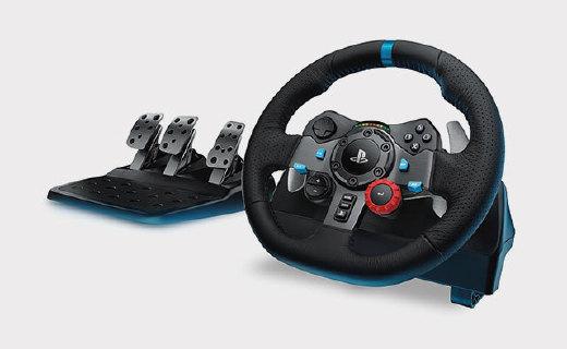 羅技G29游戲方向盤:精準控制,皮革舒適手感,老司機必備