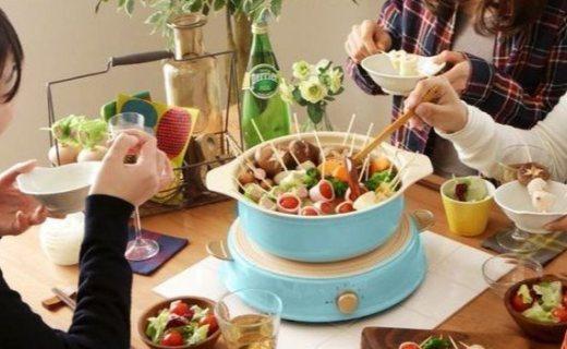 爱丽思欧雅玛电磁炉陶瓷锅套装:6档调节,微晶面板易清洁