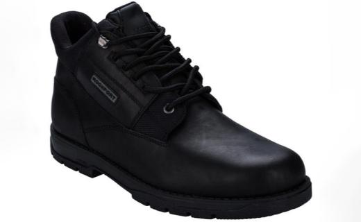 樂步時尚休閑短靴:真皮材質結實耐穿,緩震中底舒適柔軟