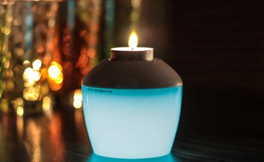 MIPOW氛围夜灯:1600万种颜色可选,手机App控制可做烛台