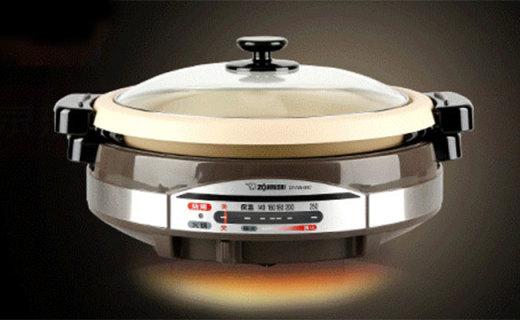 象印EP-RAH30C電熱鍋:多段式火力控制,烤涮一體更方便