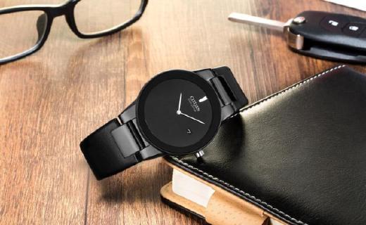 西铁城AU1065-07E光动能手表:不用频繁更换电池,极简设计凸现质感