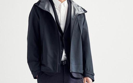 优衣库BlockTech连帽运动外套:防风防水版型好,版?#32479;?#36190;帅死了