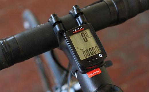 猫眼Strada骑行码表:2.4GHz无线传输,可记录踏频速度里程