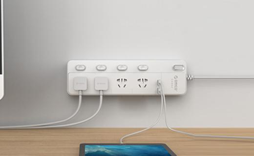 ORICO NPC智能插座: 2.4A大電流USB輸出,帶防浪涌保護