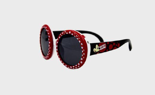 迪士尼米奇偏光防儿童太阳镜:经典波点翻盖造型,TAC偏光镜片护眼