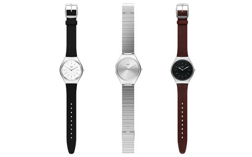 Swatch推出首款金属材质超薄腕表,极简设计更时尚