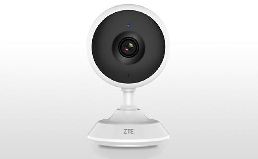 中興C320攝像頭:120度大廣角紅外夜視,支持實時語音通話