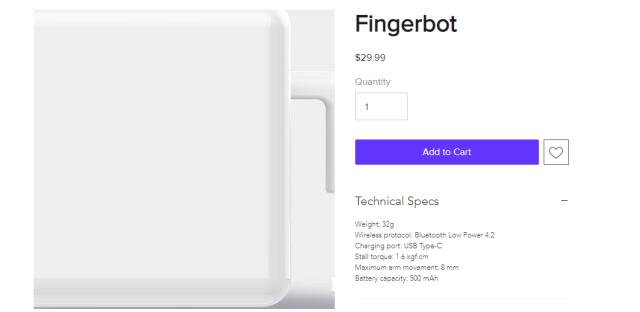 """手指""""模拟器""""开卖!火柴盒大小,什么开关都能按,价格更让人心动"""