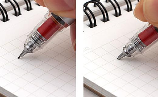 不會斷芯的自動鉛筆,金屬筆身手感更好