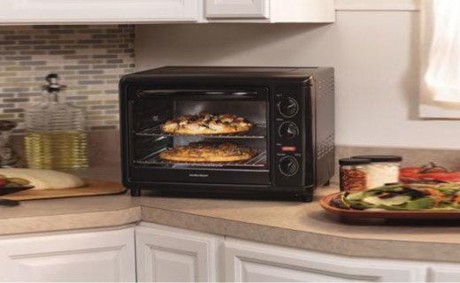 漢美馳31103電烤箱:搪瓷內膽易清潔,熱風烘烤加熱更均勻