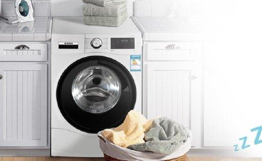 博世洗衣机:LED全触摸面板方便触控,智能控温高度清洁
