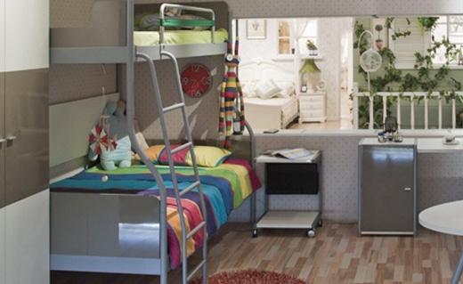 Catking雙層高低床:金屬框架穩固結實,二胎家庭必備