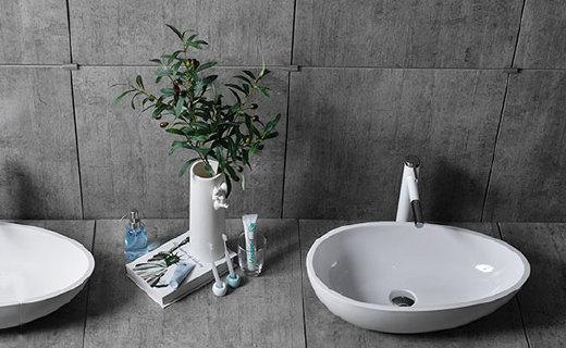 觀博異型洗漱盆:采用新型材料,不易泛黃易清潔