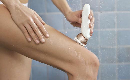 能按摩的飞利浦脱毛器,洗澡也能用