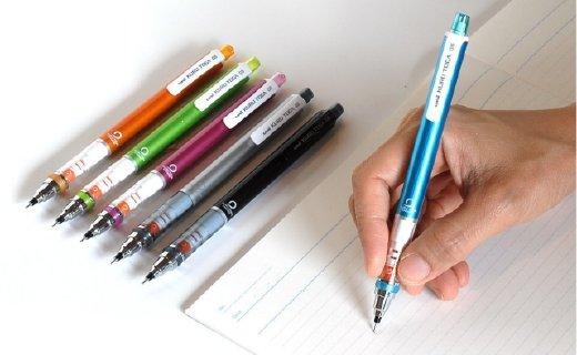 三菱M5-450機動自轉鉛筆:書寫時緩慢旋轉,保證筆跡始終均勻