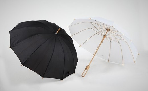 竹语中国风雨伞:IF设计大奖外形,优质淡竹结?#30340;?#29992;