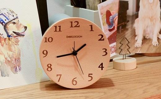 本来设计榉木时钟:静音机芯走时准确,获得iF设计大奖