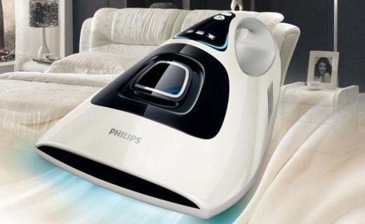 飞利浦 FC6233除螨器:强劲拍打吸力除螨,安全紫外线杀菌