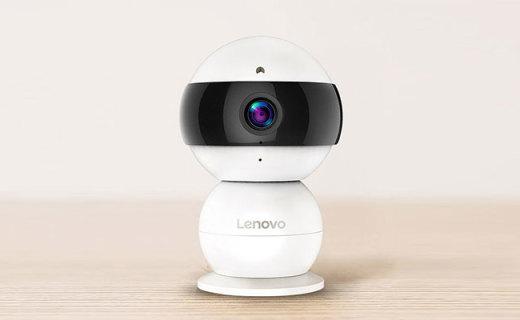 聯想Snowman智能攝像頭:呆萌雪人造型,高清攝錄一鍵上傳APP