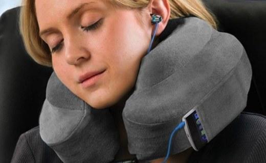 Cabeau护颈枕:慢回弹记忆棉舒适柔软,工学设计?#33322;?#21387;力