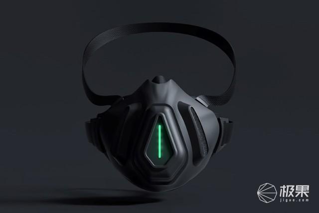 赛博朋克概念口罩:塑料垃圾制成,内置芯片检测病毒