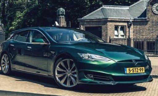 国外大神爆改特斯拉Model S猎装版,造型大变样,涂装亮眼!