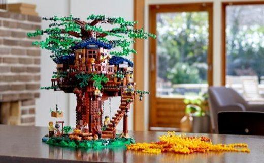 「新東西」主推環保理念,樂高推出新材質樹屋套裝