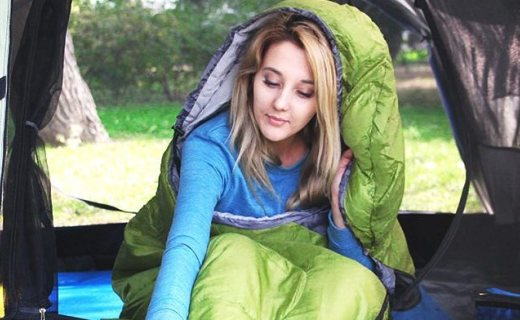 OZtrail户外睡袋:高密编织面料防水耐磨,薄款超轻便携带