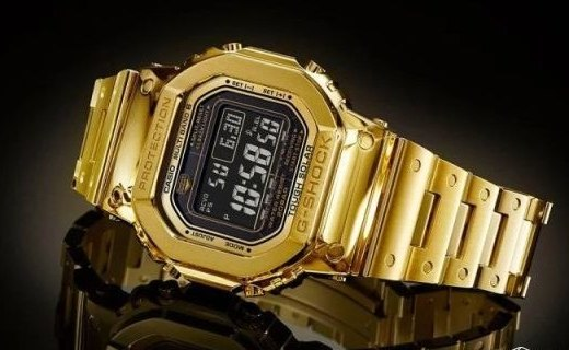 18K金!卡西歐發布 G-shock 35 周年紀念金表