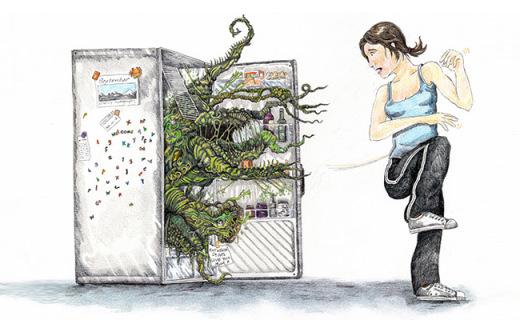 三步清洁拒绝冰箱脏乱臭,咸鱼都说服