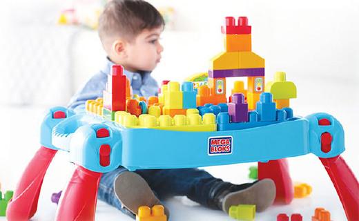 美高兒童趣味積木桌:自帶儲物盒好收納