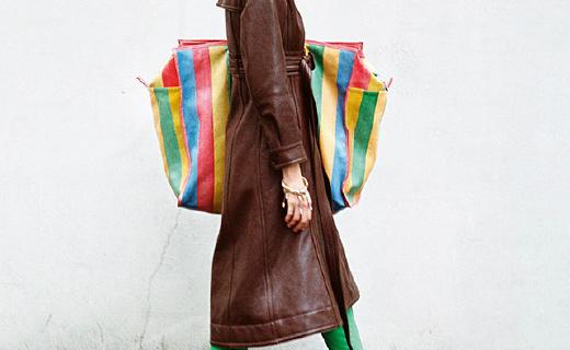 巴黎世家超大手工牛皮編織袋,時尚果然不好懂