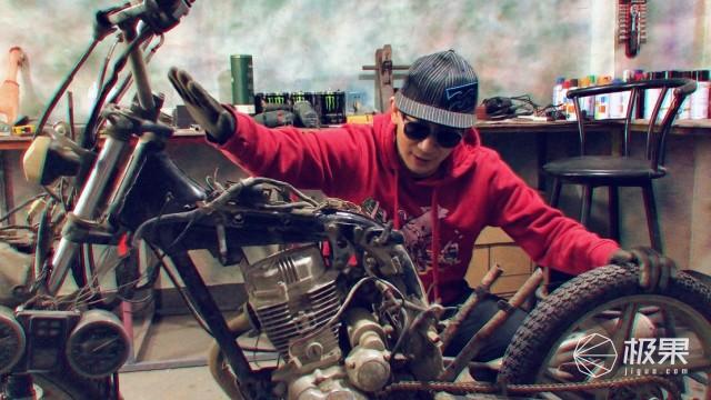 这才是改装的艺术,脏烂旧125摩托变黑武士Bobber,只花了200块!