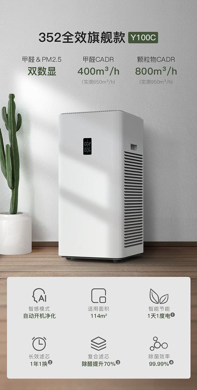 352Y100C空氣凈化器
