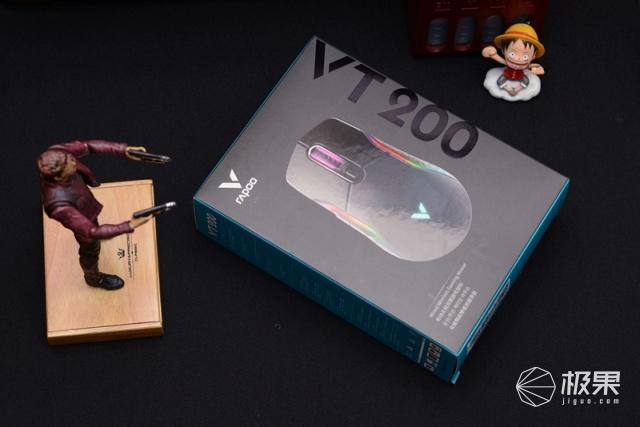 RGB背光、双模连接,雷柏VT200双模鼠标开箱万博体育max下载