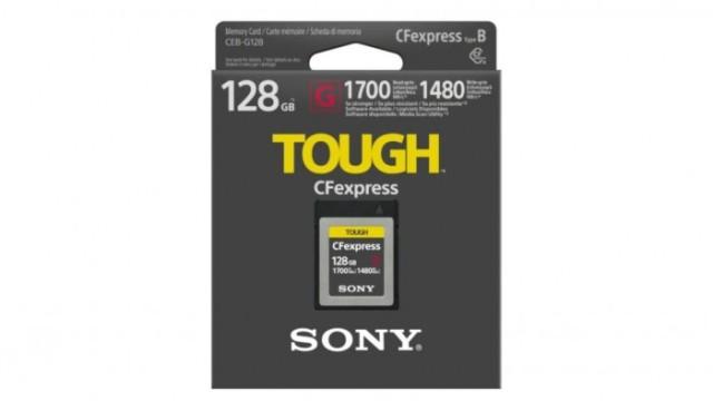 读取速度最高1700MB/s,索尼发布CFexpress存储卡