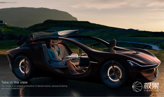 奔驰VISIONDUET概念车:没有车门,还能边开车边野餐
