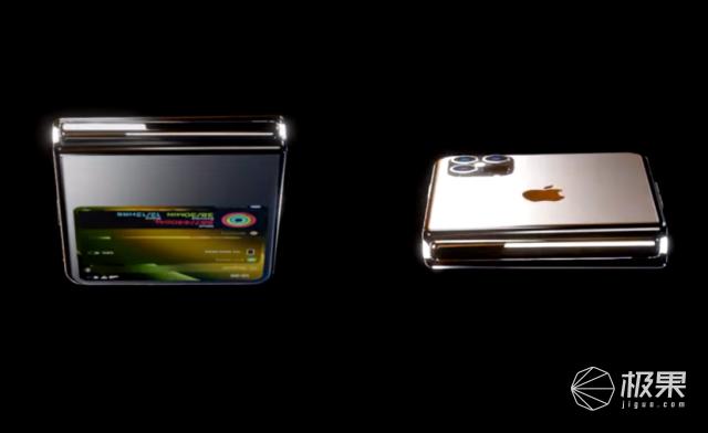 上下对折设计!苹果折叠屏手机iPhoneFilp意外曝光