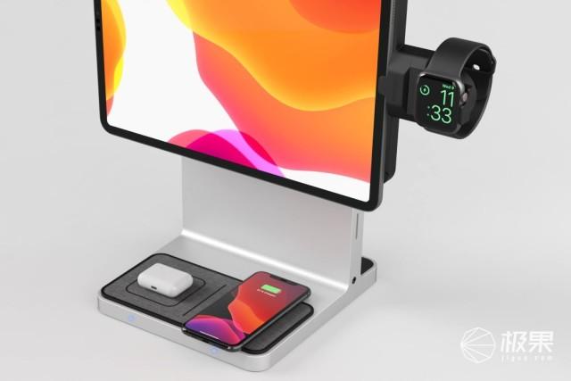 iMac一样的体验!金士顿发布iPad扩展坞,内置无线充电板
