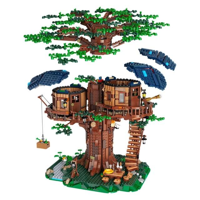 「新东西」主推环保理念,乐高推出新材质树屋套装
