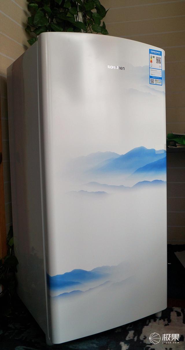 容声印象客厅复古电冰箱测评