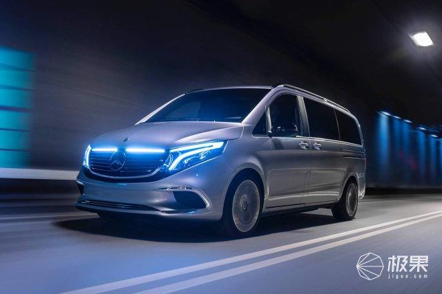 日内瓦车展:奔驰EQV亮相,V级的电动版,续航400公里以上!